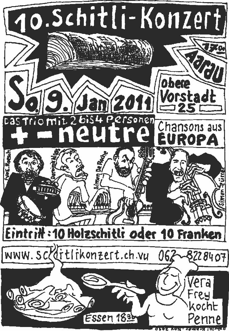 Flyer Schitlikonzert 2011